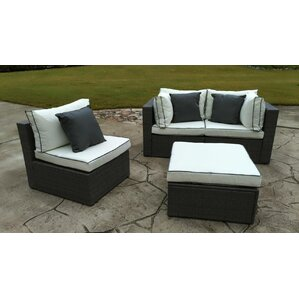 4piece hannah wicker patio seating group