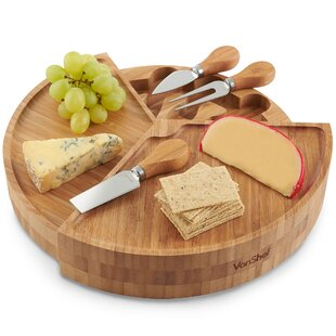 3 Tier Fold out 4 Piece Cheese Board Set by VonShef