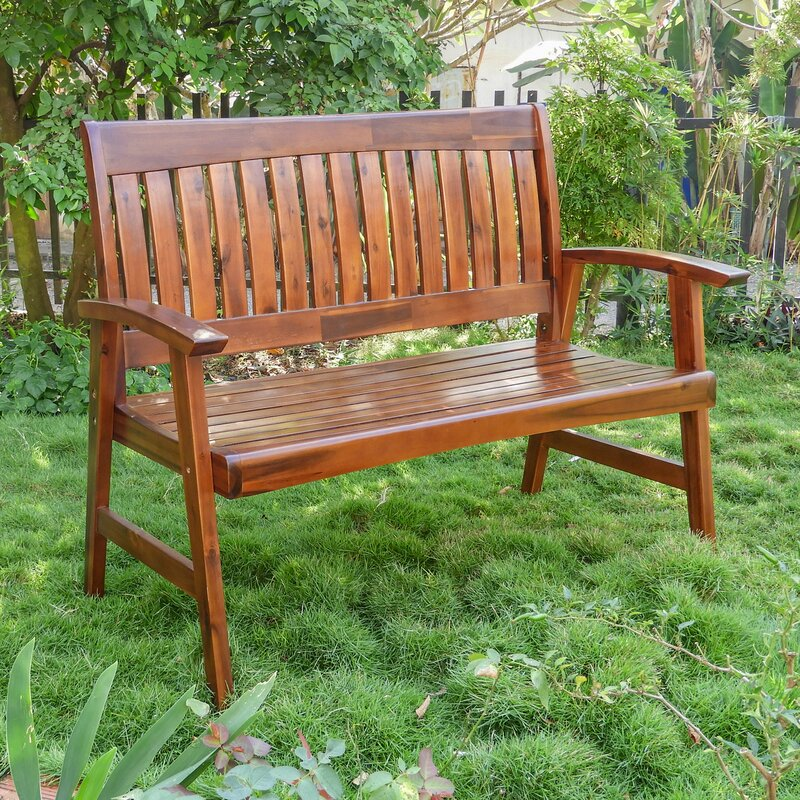 August Grove Gabbert Wooden Garden Bench & Reviews | Wayfair