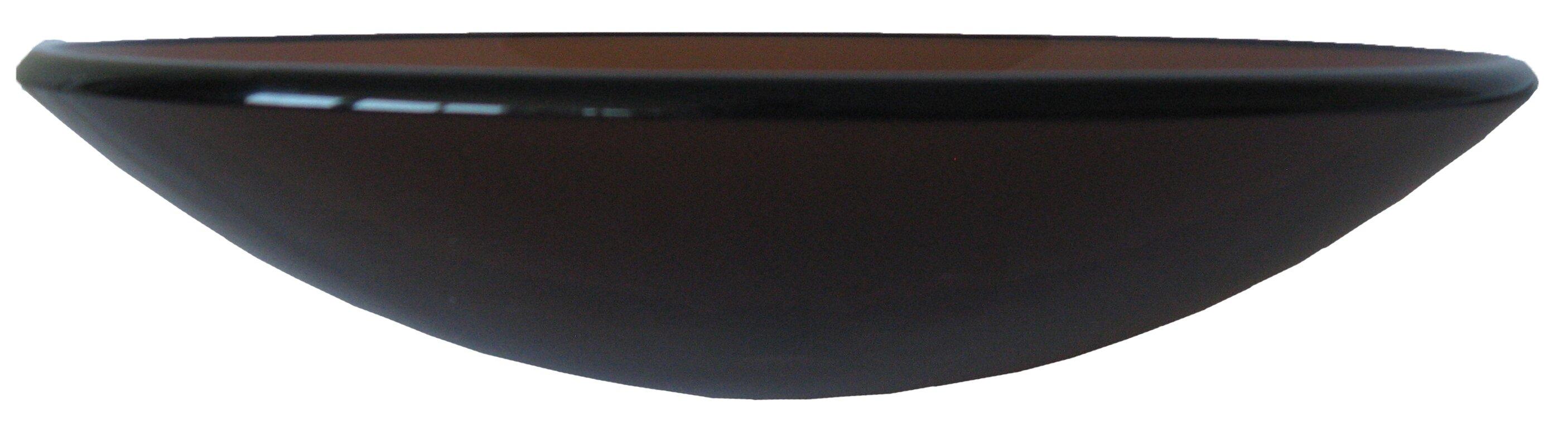 novatto low profile glass circular vessel bathroom sink