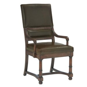 Vintage Patina Genuine Leather Upholstered Dining Chair (Set of 2) by Bernhardt