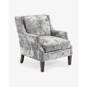 wing back scoop arm chair