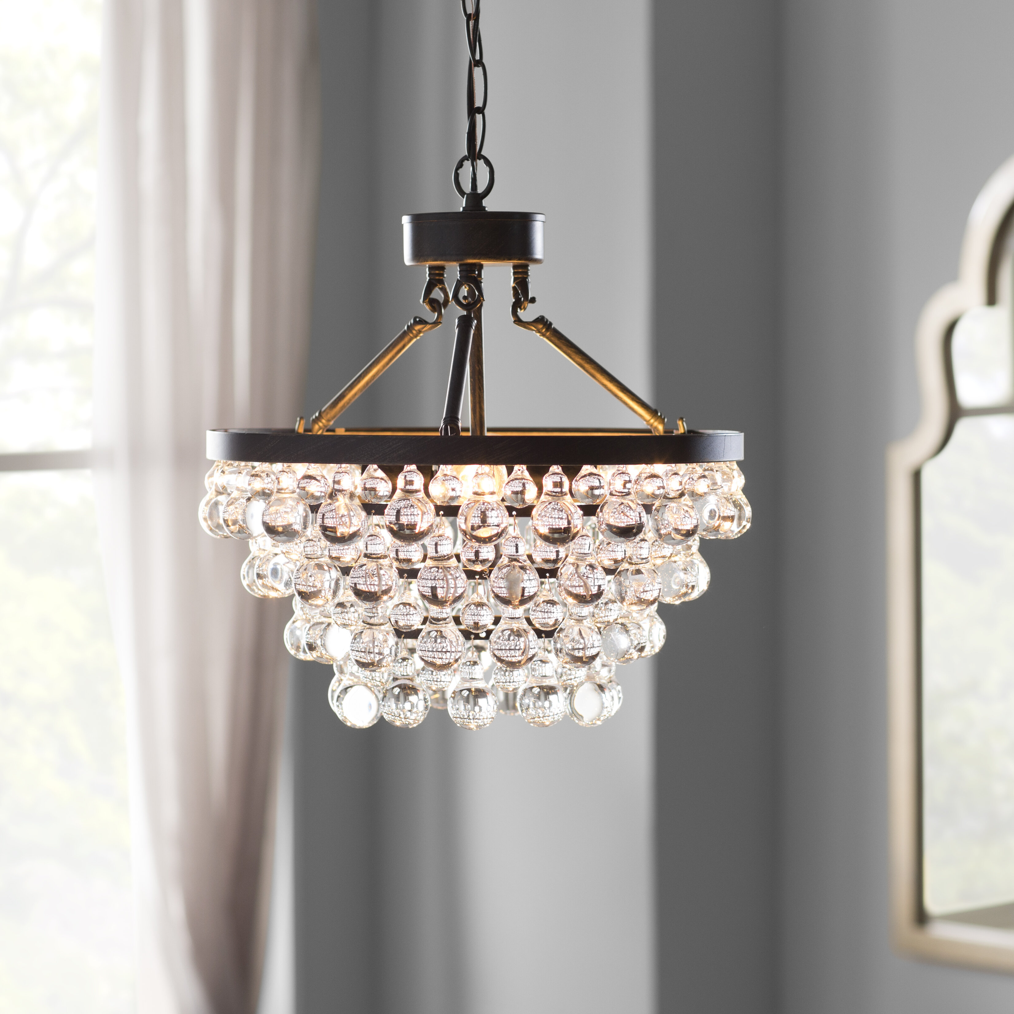 House of hampton mcmillen 5 light crystal chandelier reviews wayfair