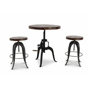 Grigor 3 Piece Adjustable Pub Table Set
