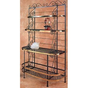 Karol Wrought Iron Baker's Rack by Red Bar..