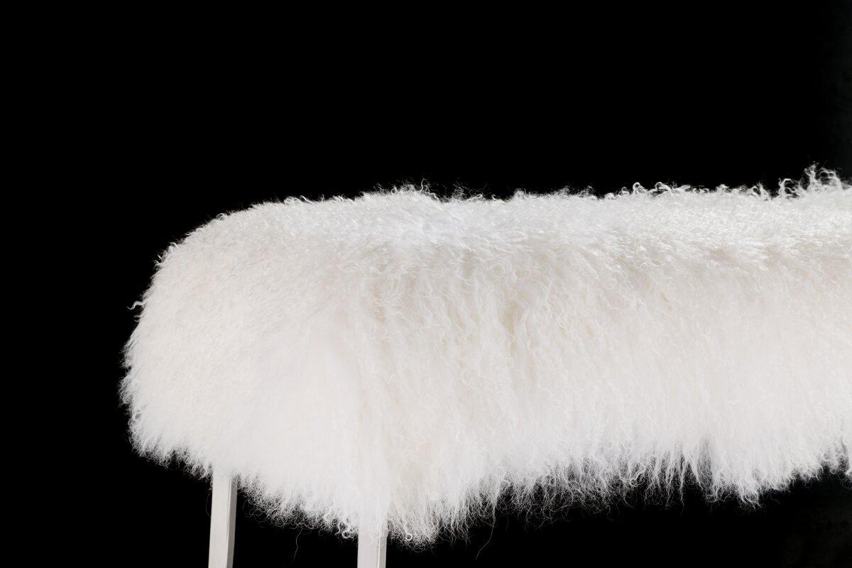 default_name - Pasargad Mongolian Fur Bench & Reviews Wayfair