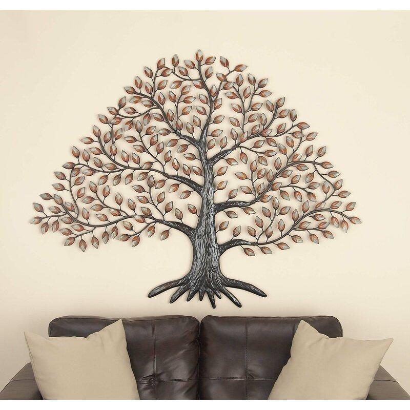 Cole & Grey Metal Tree Wall Décor & Reviews   Wayfair