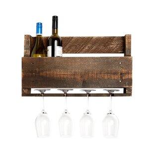 Kindred 4 Bottle Wall Mounted Wine Rack