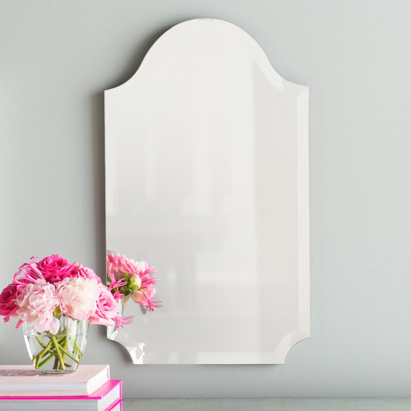 Tall Wall Mirrors willa arlo interiors dariel tall arched scalloped wall mirror