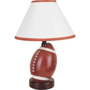 Football lamp wayfair football 12 table lamp aloadofball Images