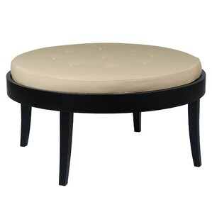 Darby Home Co Brundidge Leather Cocktail Ottoman