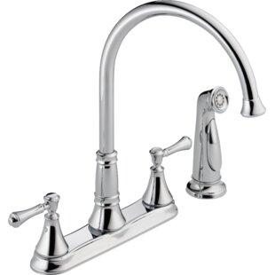 Quickview. Delta. Cassidy Double Handle Kitchen Faucet ...