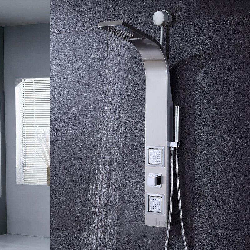 Luxier Diverter Dual Shower Head Shower Panel   Wayfair