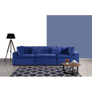 Midnight Blue Velvet Sofa | Wayfair