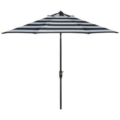 Breakwater Bay 9' Market Umbrella Fabric Color: Black/White