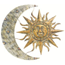 Sun And Moon Wall Decor gardman aztec sun and moon wall décor & reviews | wayfair