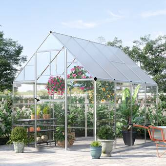 Palram Nature 4 Ft  W x 8 Ft  D Lean-To Greenhouse & Reviews | Wayfair