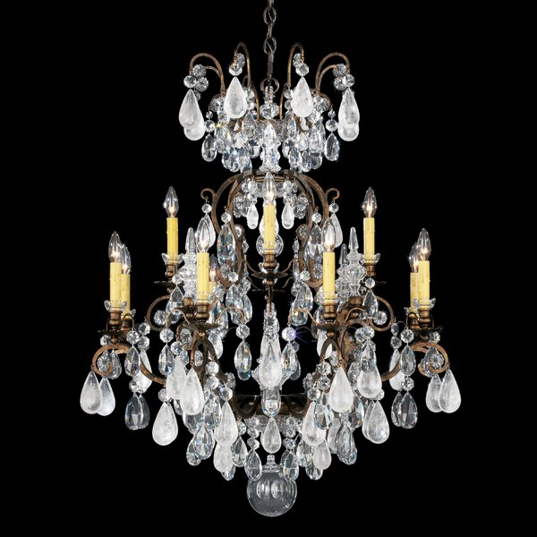 Schonbek Chandelier Wayfair: Schonbek Renaissance Rock 12-Light Candle-Style Chandelier