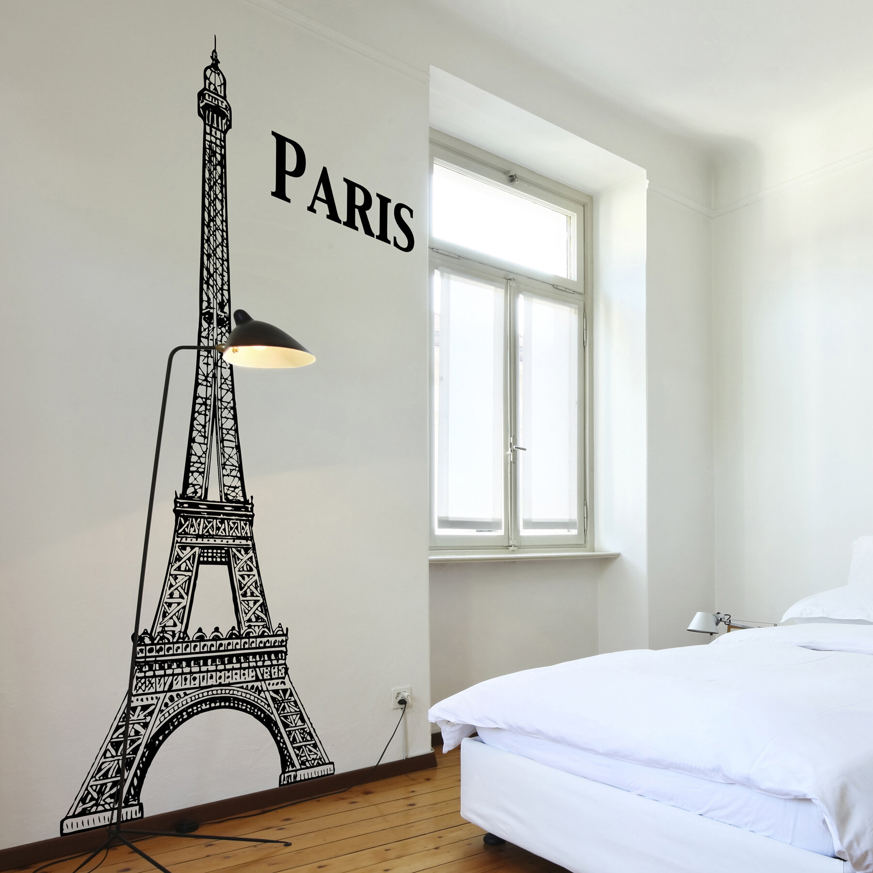 Home Decor Line Eiffel Tower Wall Decal