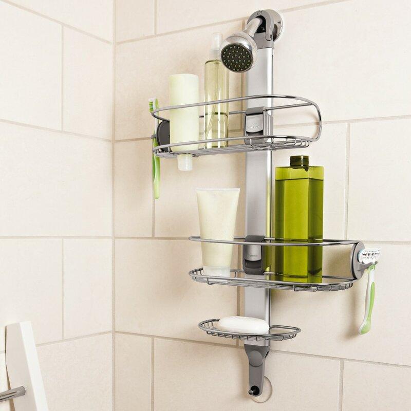 simplehuman Adjustable Metal Hanging Shower Caddy & Reviews ...