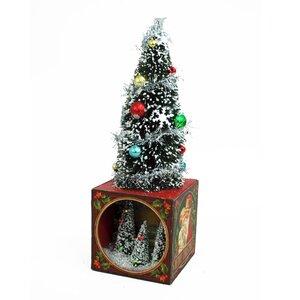 Lighted LED Tree on Box Scene