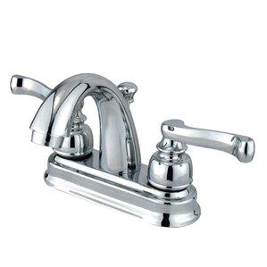 Vintage Double Handle Centerset Bathroom Faucet With ABS Pop Up Drain