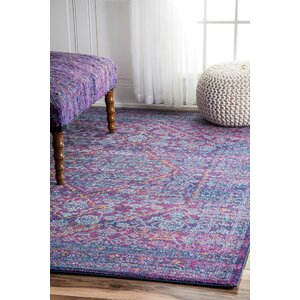 Daveney Purple Area Rug