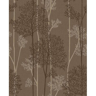Gracie Oaks Darcella 33' x 20 Floral and Botanical Wallpaper Roll Color: Chocolate/Bronze