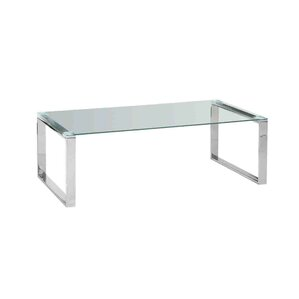 Stainless Steel and Glass Coffee Table..