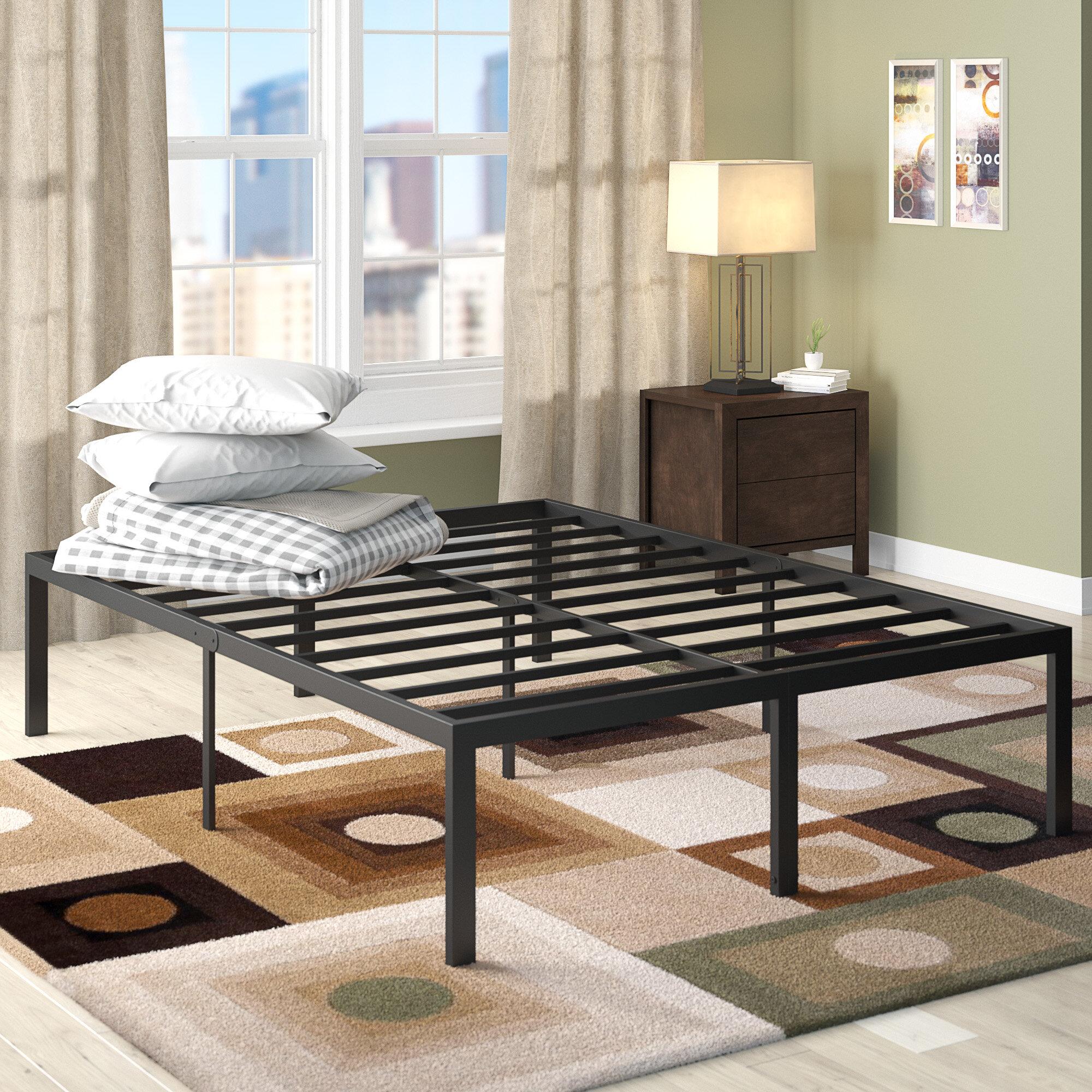 Latitude Run Yetter Steel Slat Bed Frame U0026 Reviews | Wayfair