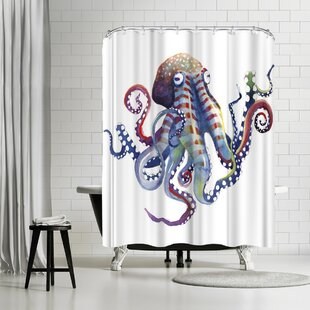 Sam Nagel Octopus Shower Curtain