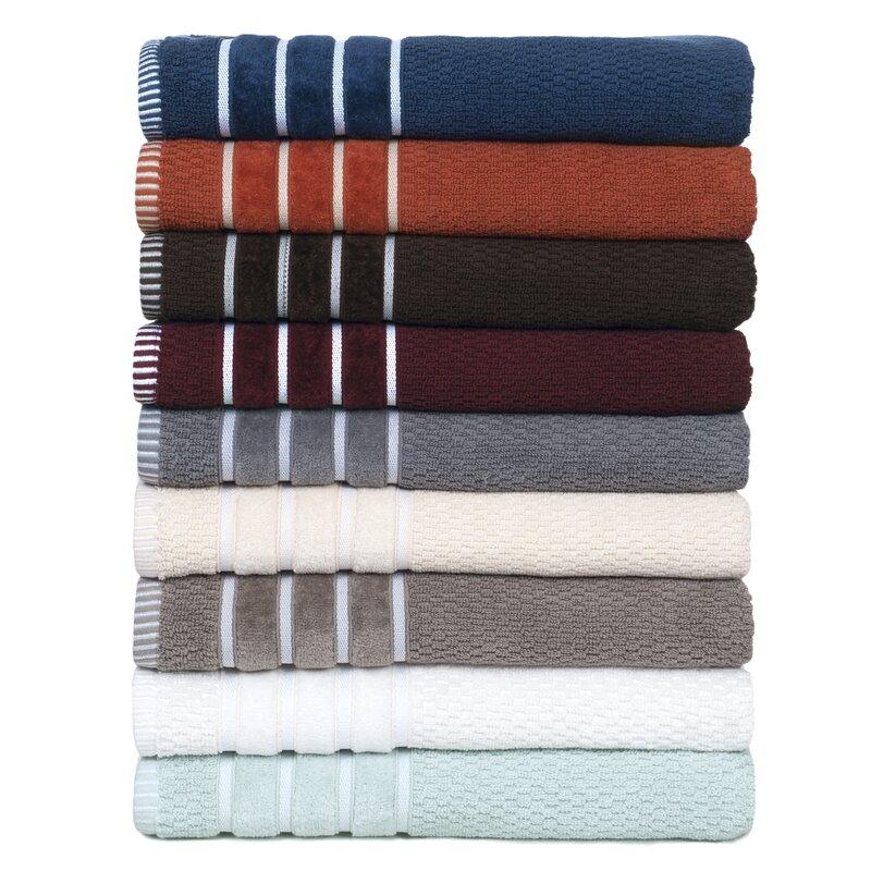 Brayden Studio Delfino Rice Weave 6 Piece Towel Set & Reviews Wayfair
