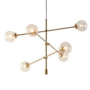 Cyrus Antique Gold 6-Light Oversized Bulbs Spunik Chandelier  sc 1 st  AllModern & Modern and Contemporary Chandeliers | AllModern azcodes.com