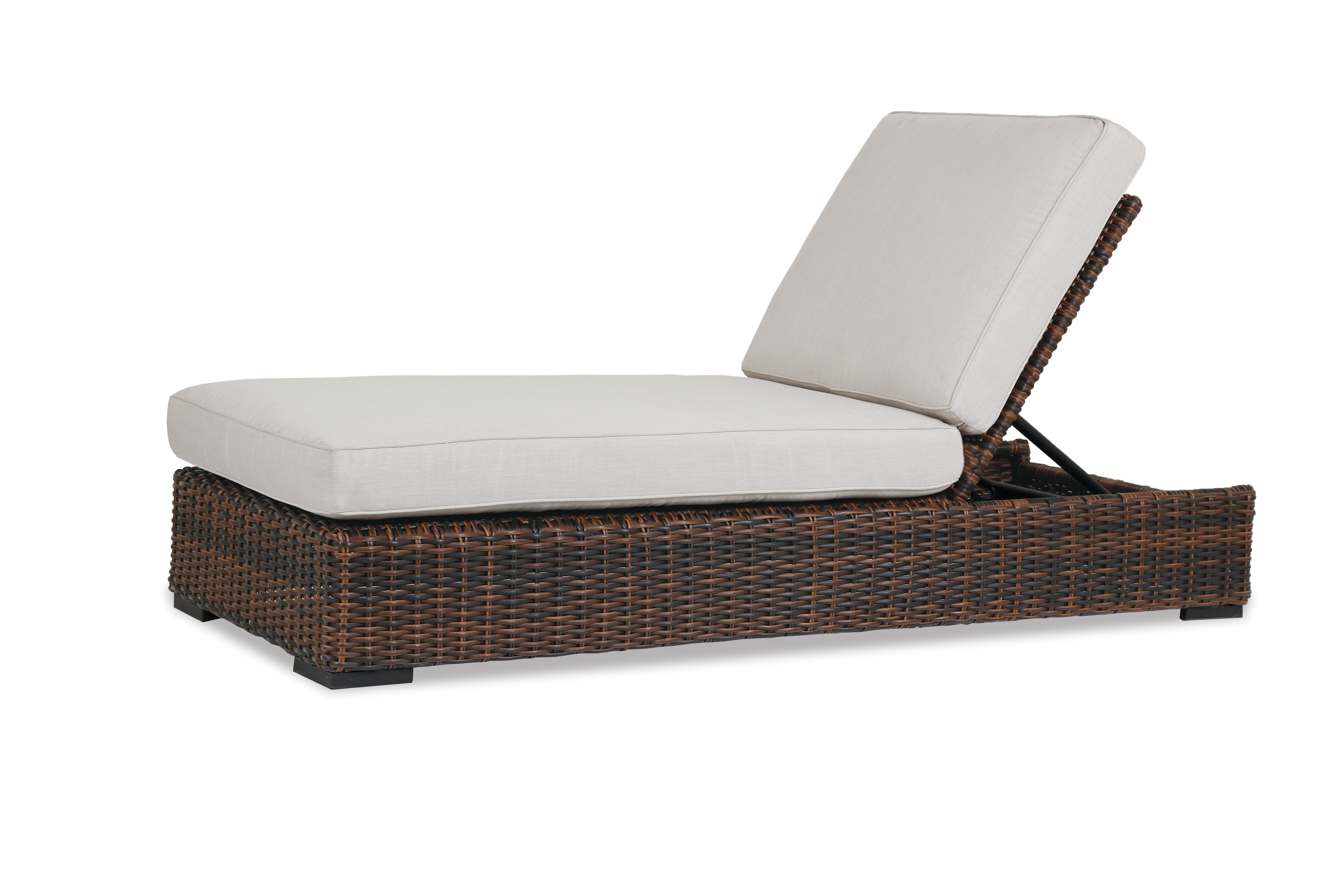 Sunset West Solana Reclining Chaise Lounge With Cushion Wayfair