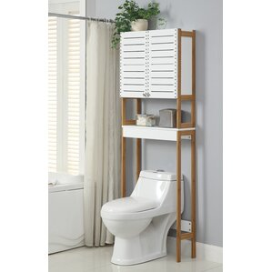 """Rendition 23.62"""" W x 70.25"""" H Over the Toilet Storage"""