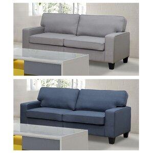 Bittle Linen Modern Living Room Sofa by Varick Gallery