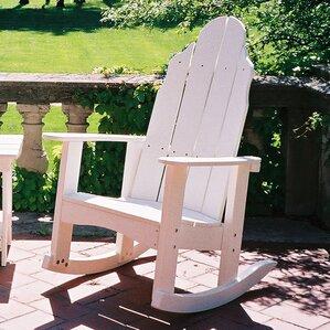 traditional rocker adirondack chair