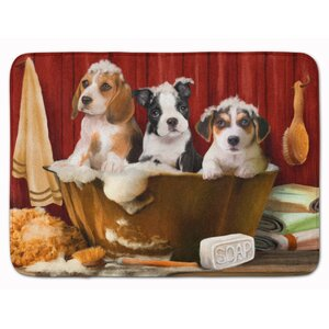 Beagle Boston Terrier and Jack Russell Memory Foam Bath Rug