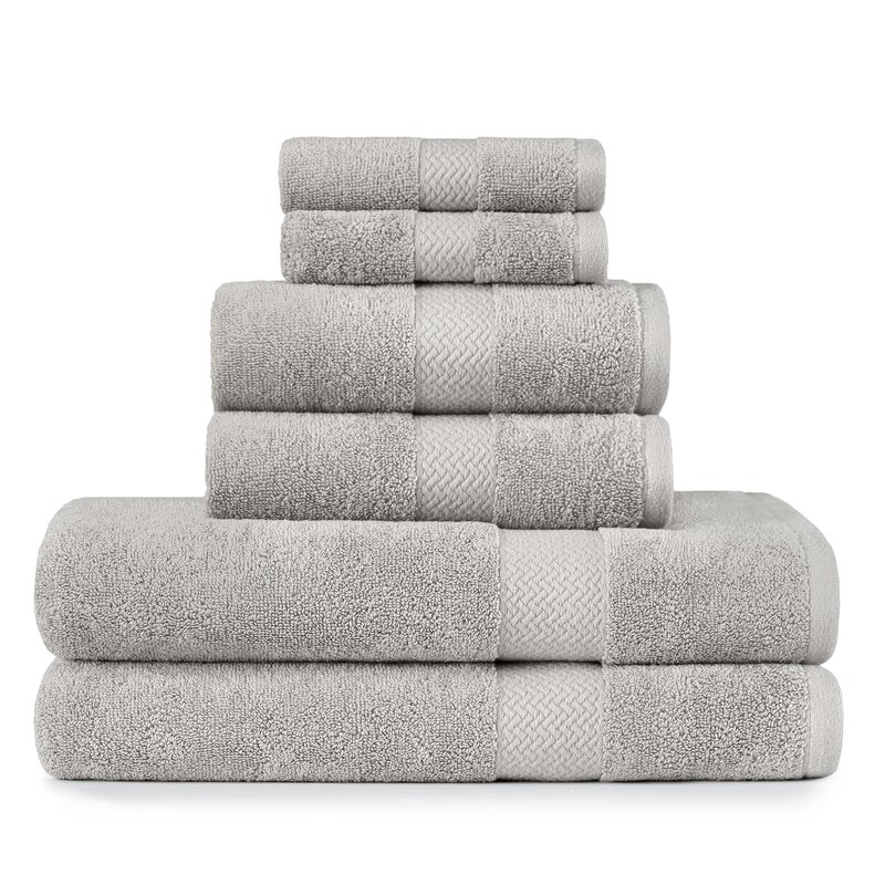 Tommy Bahama Bathroom Towels: Tommy Bahama Home Tb Cypress Bay 6 Piece 100% Cotton Towel