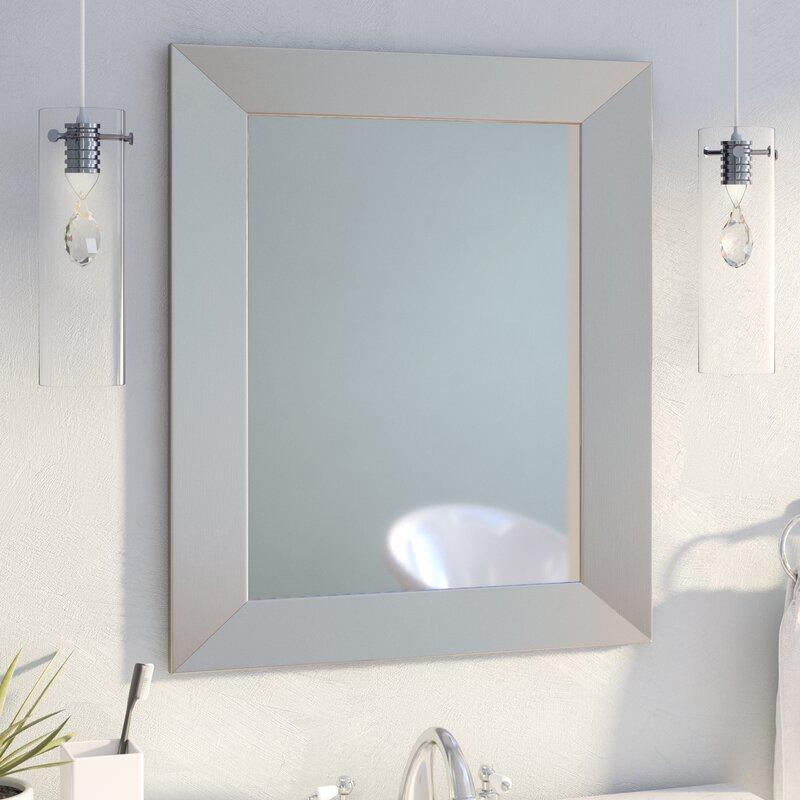Mercury Row Modern Rectangle Wood Wall Mirror U0026 Reviews   Wayfair