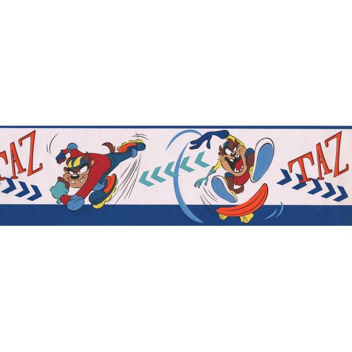 Retroart Taz On Skateboard And Rollerblades Looney Tunes Disney