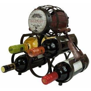 Waynoka Metal 5 Bottle Tabletop Wine Rack