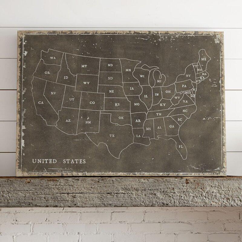 USA Map Wall Art Reviews Birch Lane - Us map wall art