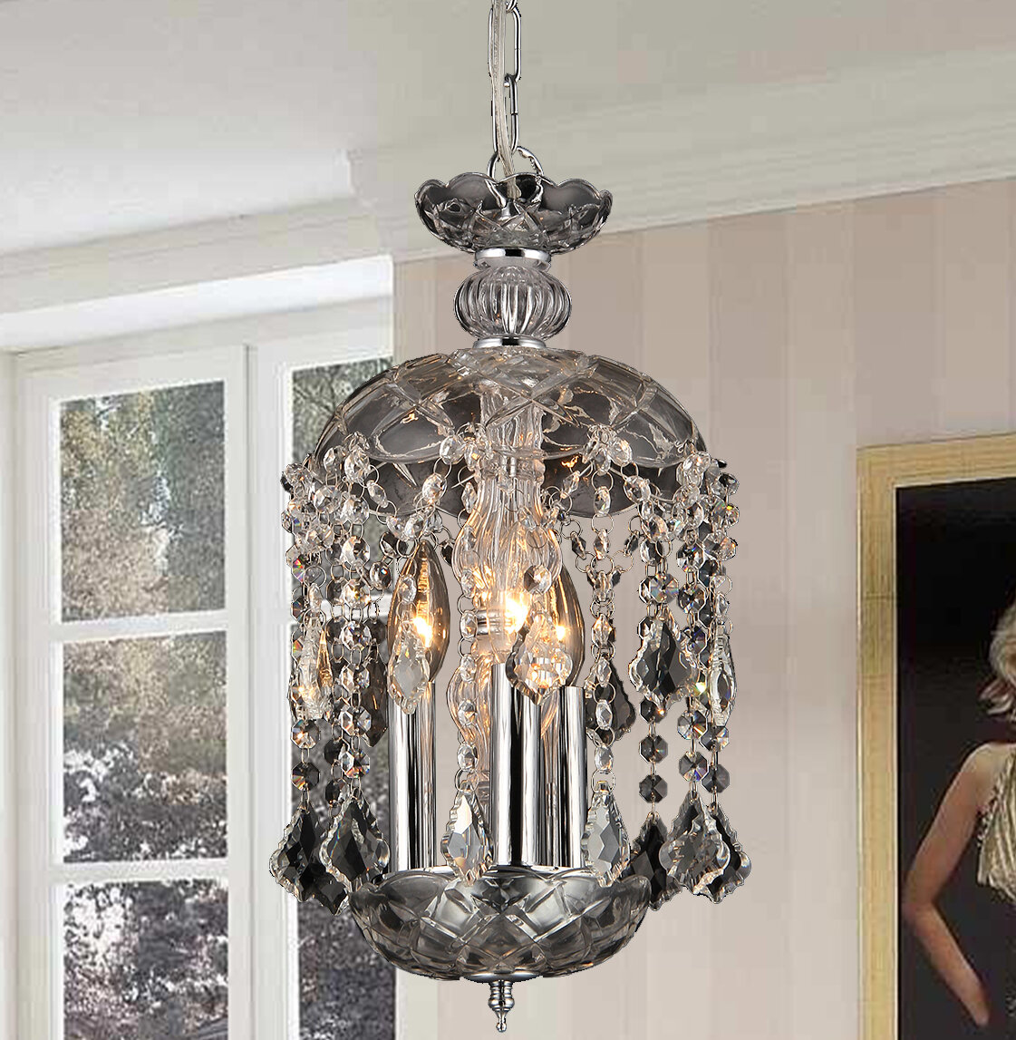 dressed w wrought amazon dp iron wl and balls trimmed swarovski chandeliers lighting crystal com chandelier