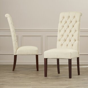 Estbury Tall Tufted Upholstered Dining Chair (Set Of 2)