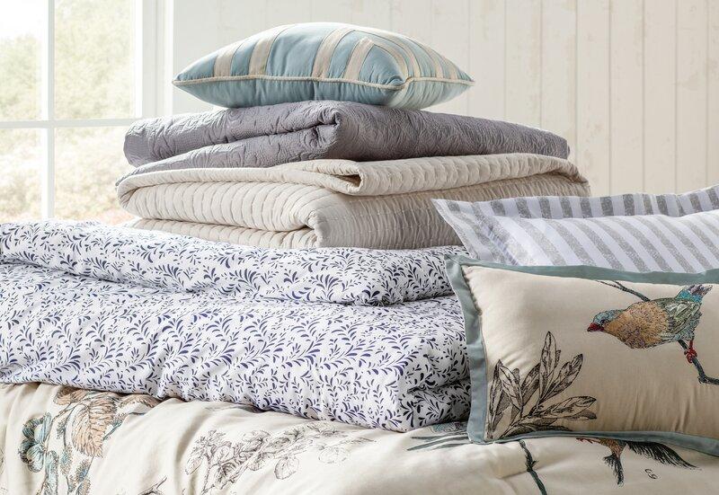 0b347e0461 Silvia 180 Thread Count 100% Cotton Comforter Set & Reviews | Birch Lane