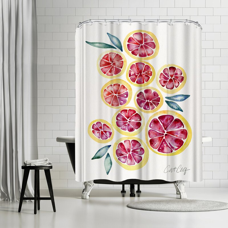 Grape Fruit Slices Shower Curtain