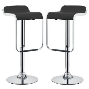 Wilton Adjustable Height Swivel Bar Stool (Set of 2) by Wade Logan