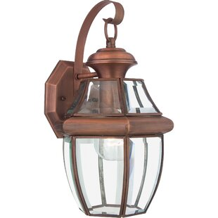 Copper outdoor wall lighting youll love wayfair save aloadofball Image collections