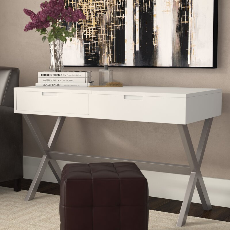 Wade Logan Clancy Desk Vanity Set With Mirror Amp Reviews